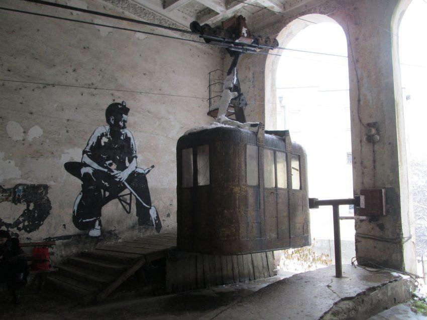 Los funiculares de Chiatura atraen a muchos curiosos