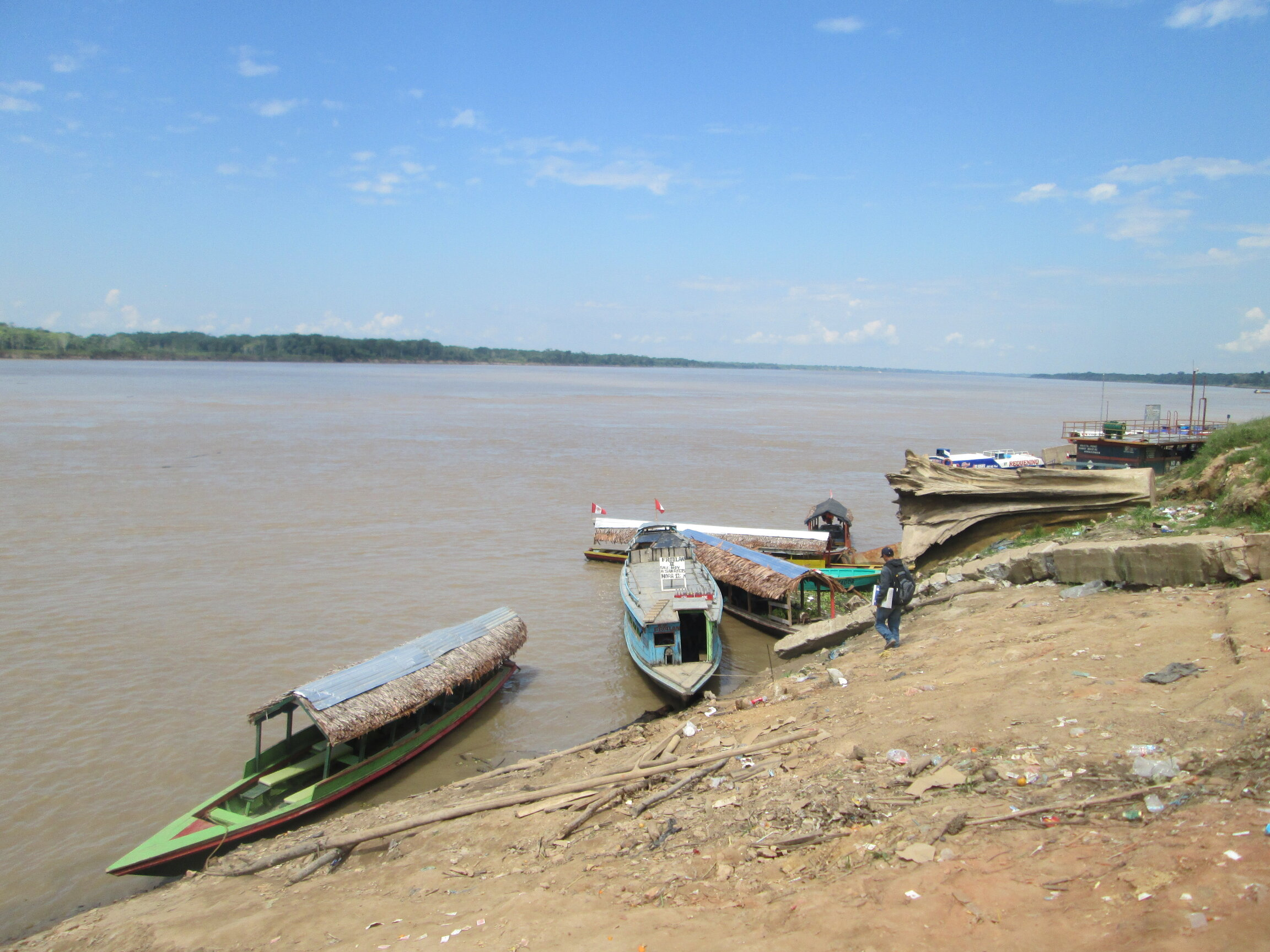 Embarcadero en Nauta, Perú
