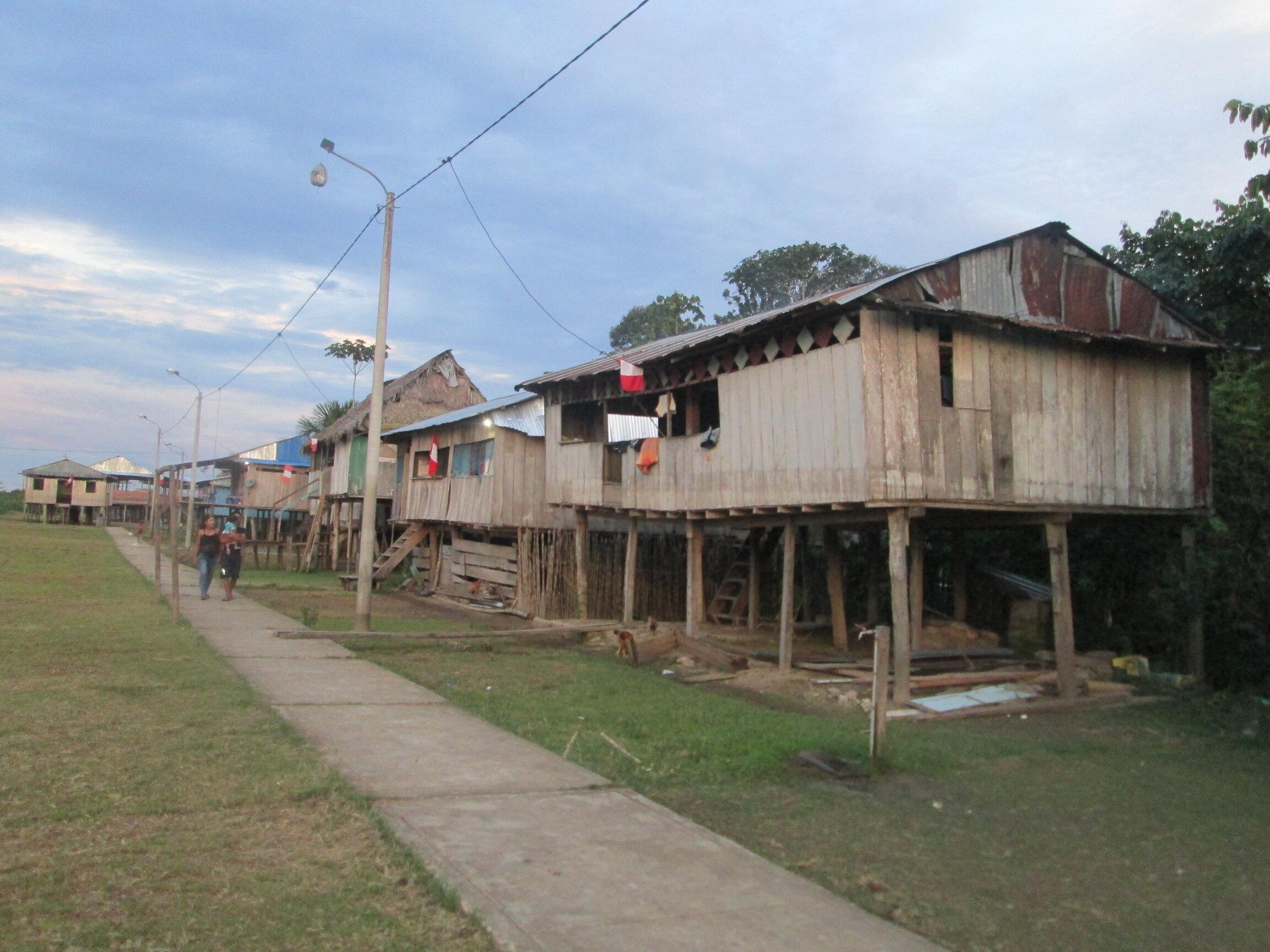Un poblado típico del Amazonas