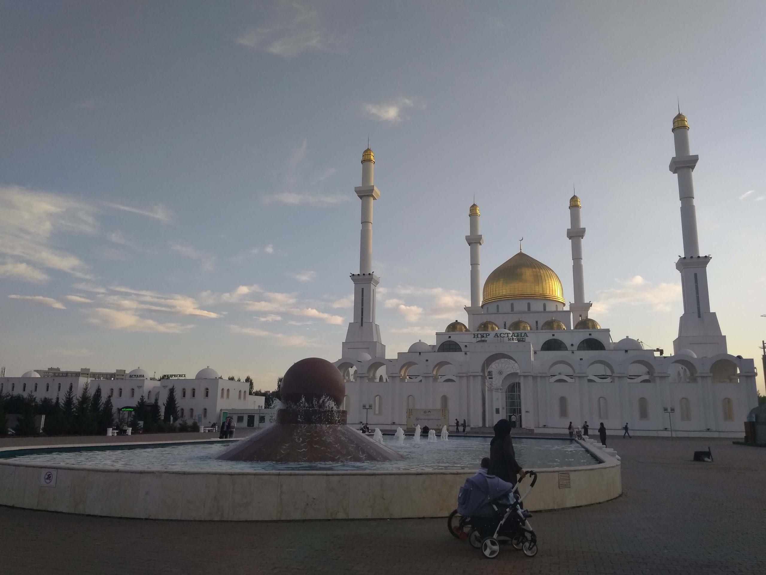 Una mezquita en la capital de Kazajistán