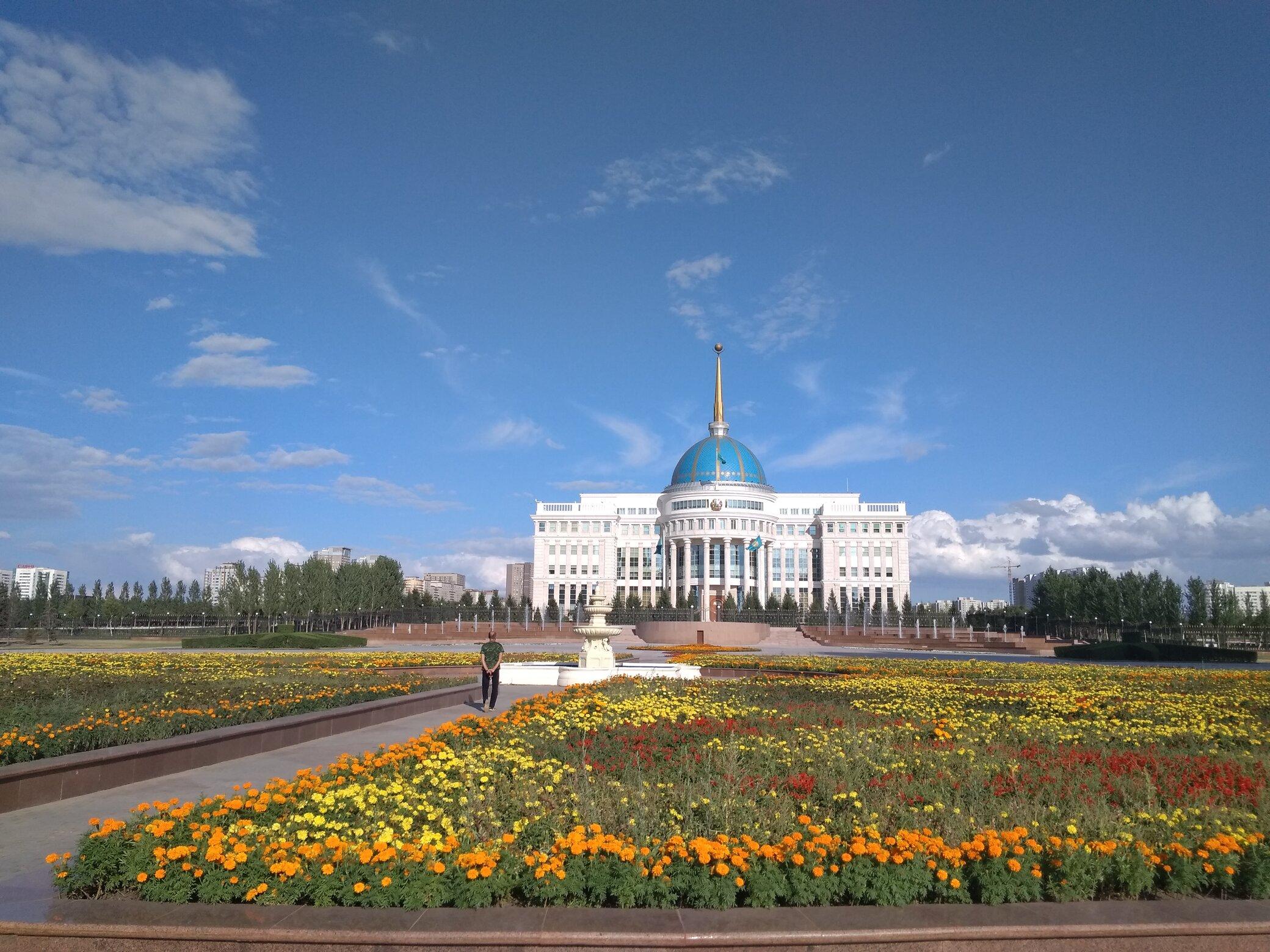 Palacio presidencial de la capital de Kazajistán